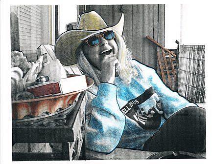 Art: Self Portrait by Artist Sherry Key
