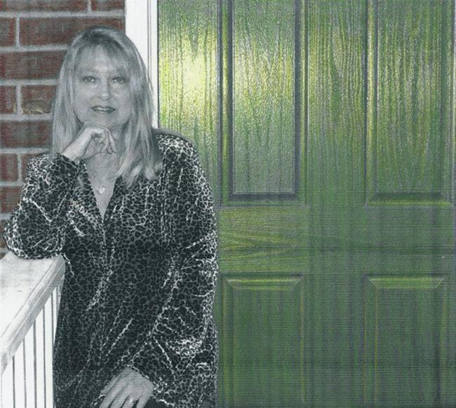 Art: ME AND THE GREEN DOOR-Hand Colored by Artist Sherry Key