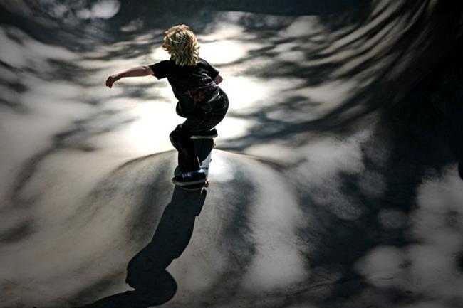 Art: Young Skater by Artist Kelli Ann Dubay