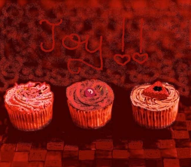 Art: Cupcakes & Joy by Artist Sherry Key