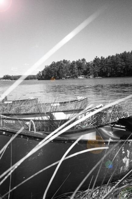 Art: Canoe Calm by Artist Karen Lynn Evans