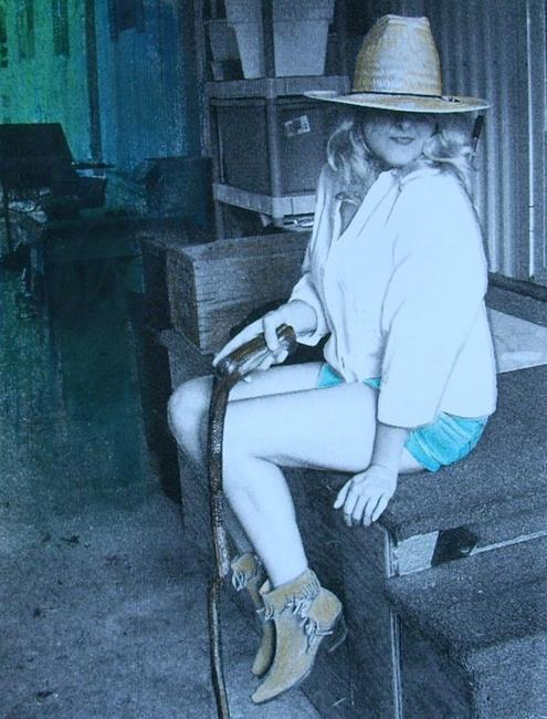 Art: Trailer Porch Steps by Artist Sherry Key