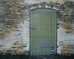 Art: Another Green Door by Artist Sherry Key