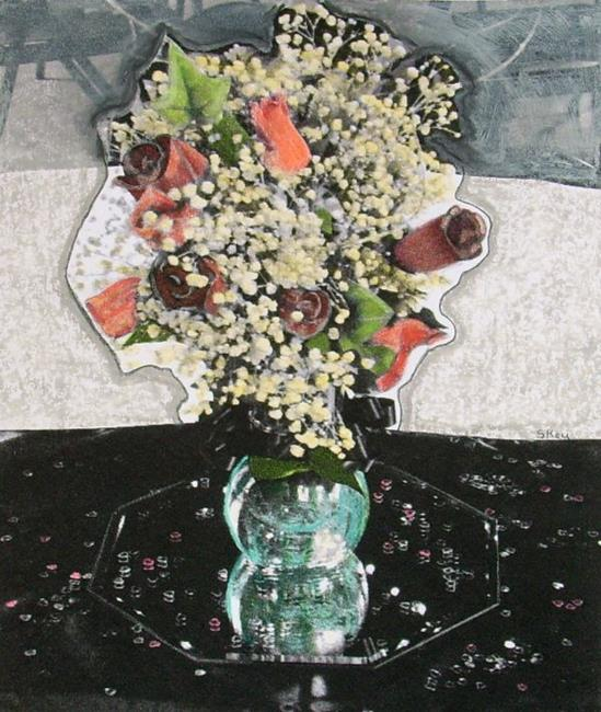 Art: Wedding Flowers by Artist Sherry Key