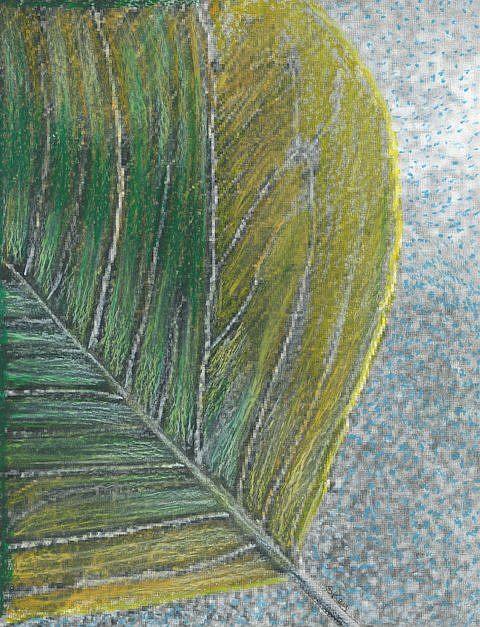 Art: Lone Leaf by Artist Sherry Key