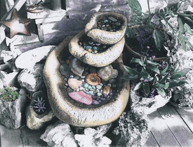 Art: Stylle's Fountain by Artist Sherry Key