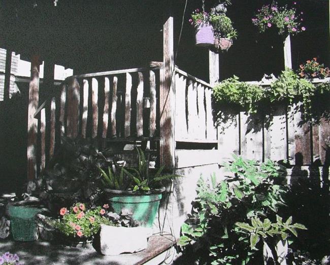 Art: Sunny Porch by Artist Sherry Key