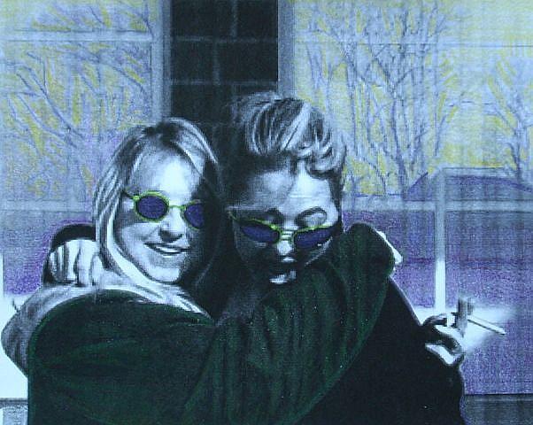 Art: MOM & DOT by Artist Sherry Key