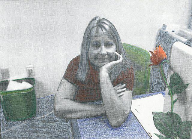 Art: Her Day Job by Artist Sherry Key