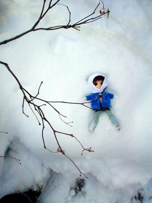 Art: Snow Angel  by Artist Noelle Hunt