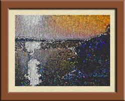 Art: Missouri River Abstract by Artist Cathy  (Kate) Johnson