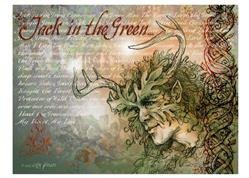 Art: Greenman Montage by Artist Cathy  (Kate) Johnson