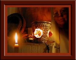 Art: Candlelight by Artist Cathy  (Kate) Johnson