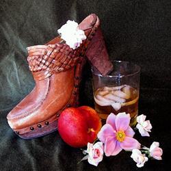 Art: Wooden Shoes, Moonshine Booze by Artist Carissa M Martos