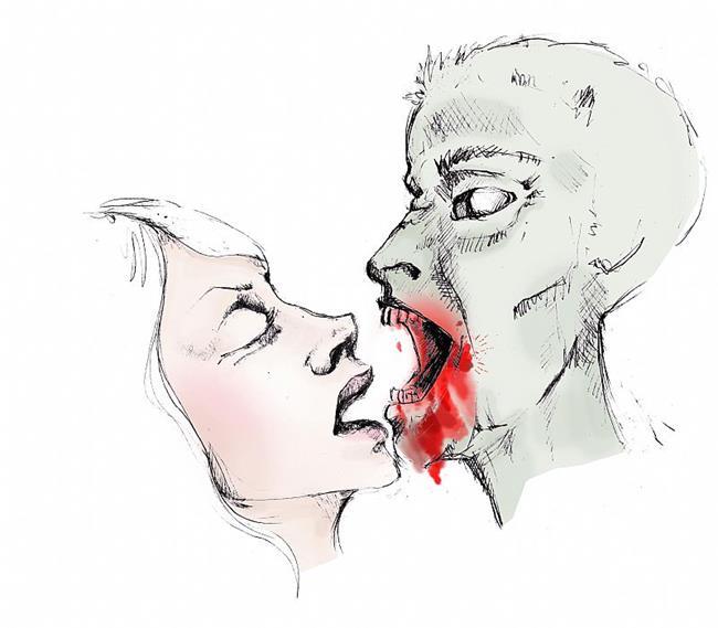 Art: kiss or bite by Artist Noelle Hunt