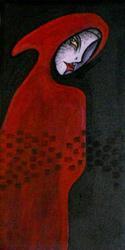 Art: Red Cloak by Artist Roy Guzman