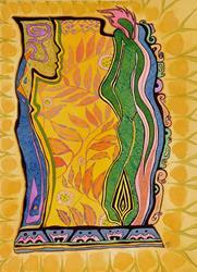Art: Spirit Garden by Artist Roy Guzman