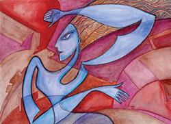 Art: Woman In Motion2 by Artist Roy Guzman