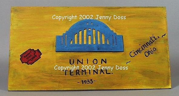 Art: Union Terminal Passport by Artist Jenny Doss