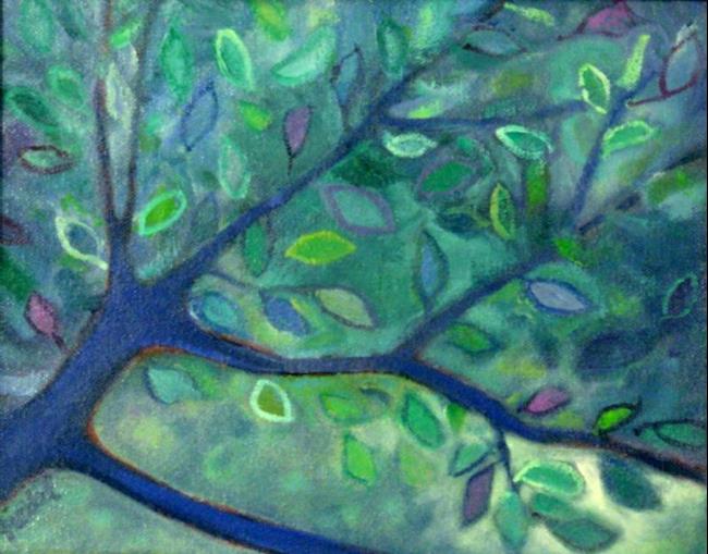 Art: New Leaves by Artist Elizabeth Fiedel