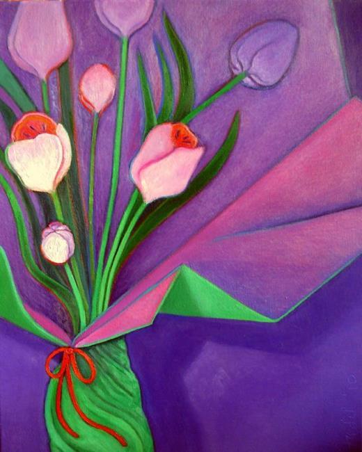Art: Fresh Flowers by Artist Elizabeth Fiedel