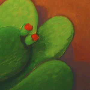 Detail Image for art Evening Cactus with Adobe