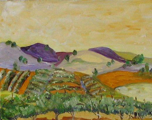 Art: The Vineyard by Artist Delilah Smith