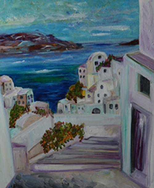 Art: Santorini by Artist Delilah Smith