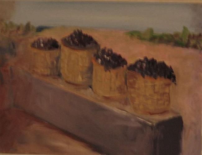 Art: Rousso's Winer Santorini Greece by Artist Delilah Smith
