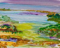 Art: At the Lake by Artist Delilah Smith