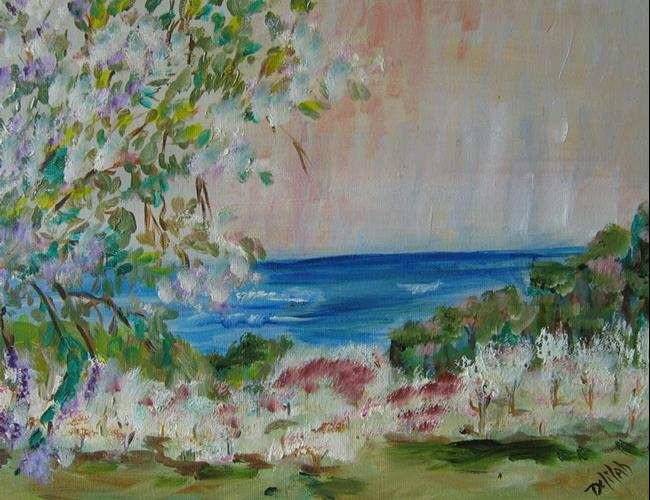 Art: By the Lake, SOLD by Artist Delilah Smith