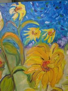 Detail Image for art Sunflowers in the Wind SOLD