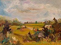 Art: Farm Land by Artist Delilah Smith