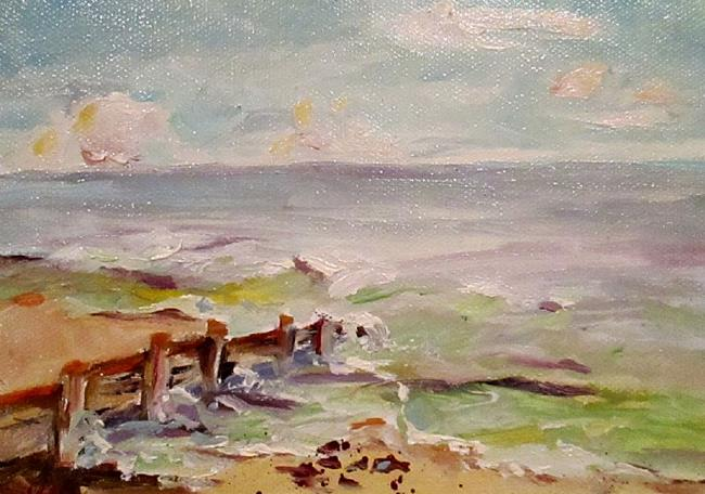 Art: Sea Wall by Artist Delilah Smith