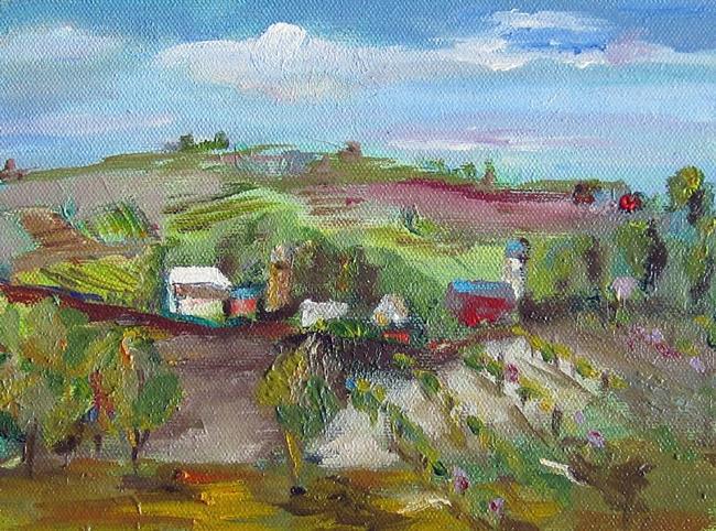 Art: Vineyard View by Artist Delilah Smith