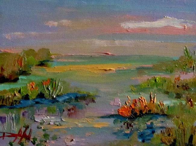 Art: Abstract Marsh by Artist Delilah Smith