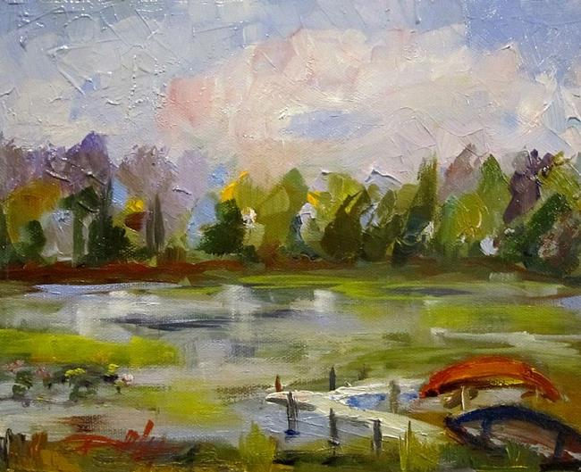 Art: Down by the Lake by Artist Delilah Smith