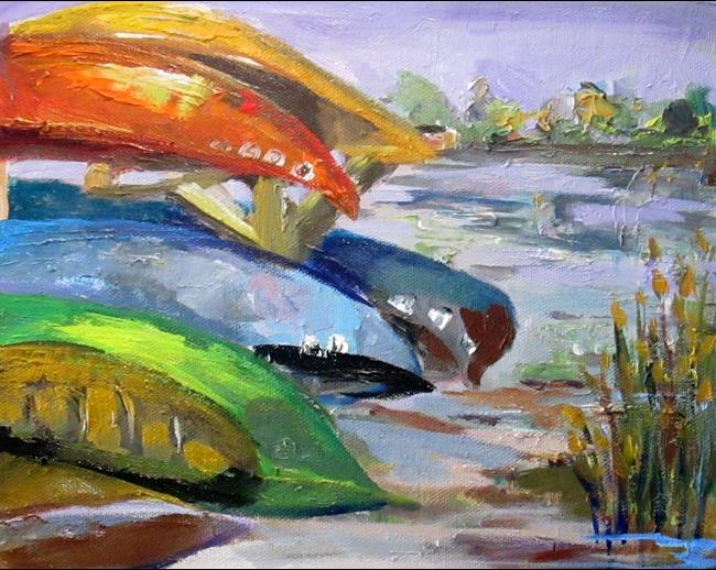 Art: Canoe Rental by Artist Delilah Smith