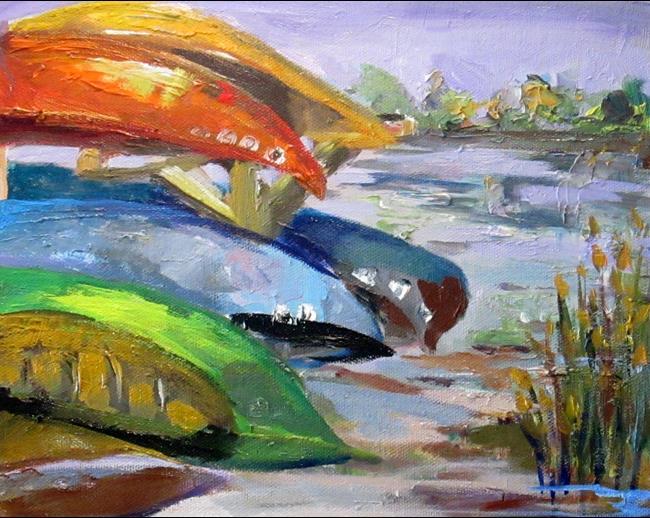 Art: Canoe Rental by Artist Delilah Smith