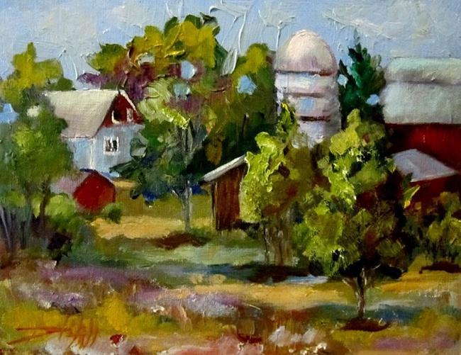 Art: Farm  Across the Field by Artist Delilah Smith