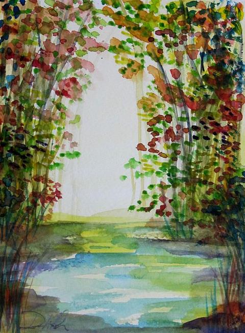 Art: Colorful Trees by Artist Delilah Smith