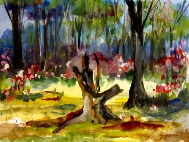 Art: Spring Wood Land by Artist Delilah Smith
