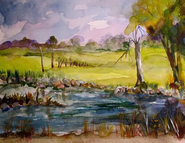 Art: Watercolor Landscape by Artist Delilah Smith
