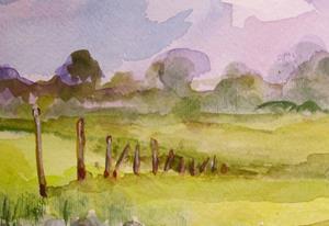 Detail Image for art Watercolor Landscape