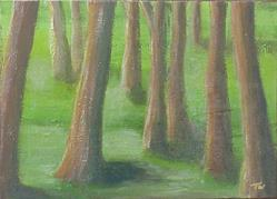 Art: Tree Party SOLD by Artist Terri L West