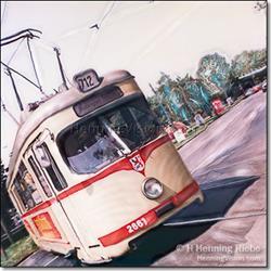 Art: Strassenbahn 712 by Artist H. Henning Riebe