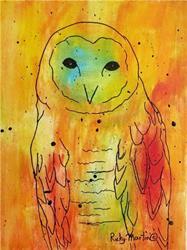 Art: Pop Art Owl by Artist Ulrike 'Ricky' Martin