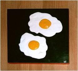 Art: Pop Art Eggs - Sunny Side Up! by Artist Lar Shackelford
