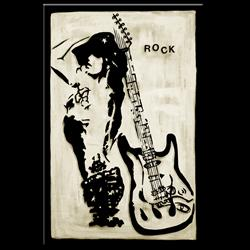 Art: Original Abstract Art - Rock Star by Artist Thomas C. Fedro