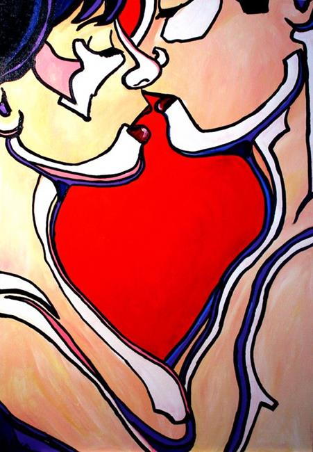 Art: The Kiss by Artist Laurie Justus Pace